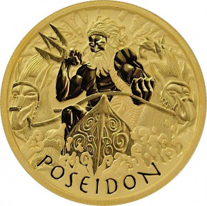 1 oz Gold Poseidon Perth Mint 2021 in Kapsel + COA