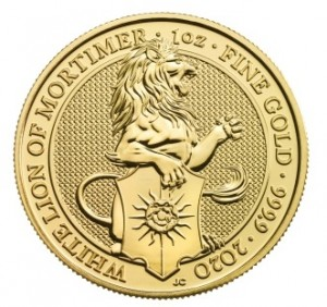 "1 oz Gold Royal Mint / United Kingdom "" White Lion of Mortimer """