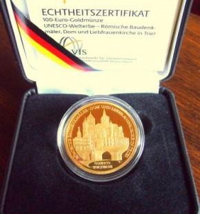 1/2 oz Gold 100 Euro Deutschland in Box / COA ( div Jahre )