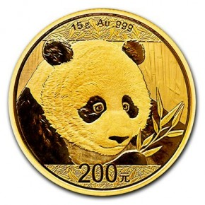 15 Gramm Gold Panda 2018 in Folie - 200 Yuan