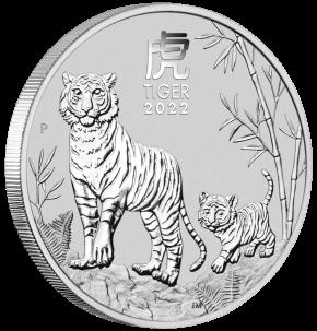 """1/2 oz Silber Perth Mint """" Lunar Tiger III 2022 """" in Kapsel ( diff.besteuert nach §25a UStG )  ( diff.besteuert nach §25a UStG )"""