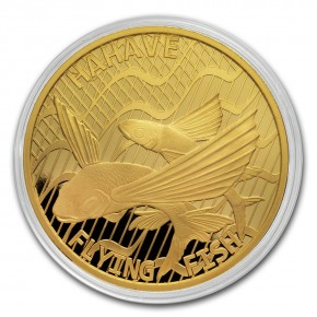 "1 oz Gold Tokelau "" Flying Fish "" ( max 100 Stk )"