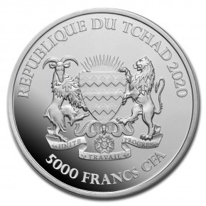 1 oz Silber Chad 2020 Mandala Büffel / Buffalo - max. Mintage 10.000 ( diff.besteuert nach §25a UStG )