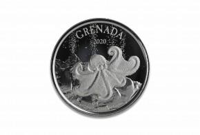 1 oz Silber Grenada Octopus in Kapsel 2020 - EC8 Serie ( diff.besteuert nach §25a UStG )