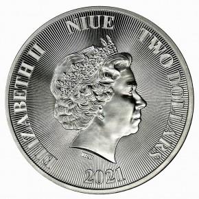 "1 oz Silber Niue "" Roaring Lion 2021 "" ( diff.besteuert nach §25a UStG )"