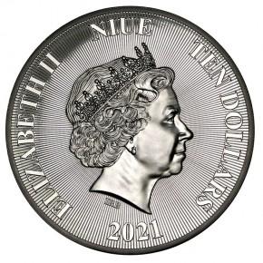"5 oz Silber High Relief "" Roaring Lion 2021 "" - max 1000 ( diff.besteuert nach §25a UStG )"