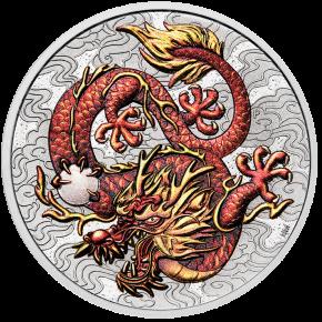 1 oz Silber Perth Mint Coincard Colored Dragon 2021 - 1te Ausgabe Chinese Myths and Legends series - max 1.000 ( diff.besteuert nach §25a UStG )