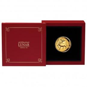 1 oz Gold Ultra High Relief 2021 Perth Mint Ox / Ochse inkl. Box / COA - max 188 Stk