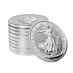 1 oz Silber Britannia 2021 / LZ Ende April ( diff.besteuert nach §25a UStG )