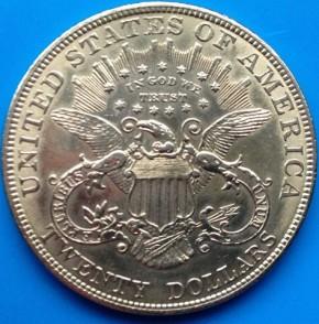 20 Dollar USA Liberty / Frauenkopf  ( 30,09 Gramm Gold fein )