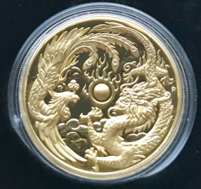2 oz Gold Dragon & Phoenix Perth Mint Ultra High Relief  inkl. BOX/COA - max. Auflage 500