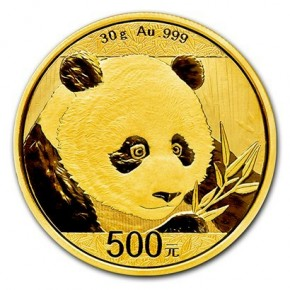 30 Gramm Gold Panda 2018 in Folie - 500 Yuan