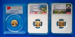 3 Gramm Gold Panda MS69 in Slab  ( 50 Yuan )
