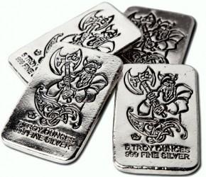 5 oz Silber Barren Monarch