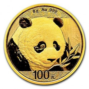 8 Gramm Gold Panda 2018 in Folie - 100 Yuan