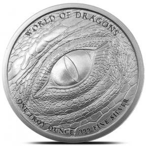 "1 oz Silber "" Welsh Dragon "" - Serie World of Dragons 2te Ausgabe ( 19% Mwst )"