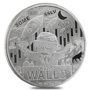 1 oz Silber Wallstreet Silver / BE exclusive USA ( inkl. gültiger gesetzl. Mwst )
