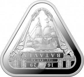 """1 oz Silber Australien """" Australian Shipwreck Series - Batavia """" in Kapsel 2019 - max. 20.000 Stk ( diff.besteuert nach §25a UStG )"""