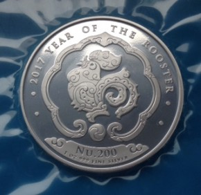 1 oz Silber Königreich Bhutan Lunar Hahn
