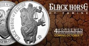 1 oz Silber Four Horsemen of the Apocalypse - Black Horse of Famine ( 3te Ausgabe ) ( 19% Mwst )