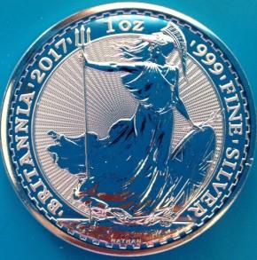 1 oz Silber Britannia 2017 ( diff.besteuert nach §25a UStG )