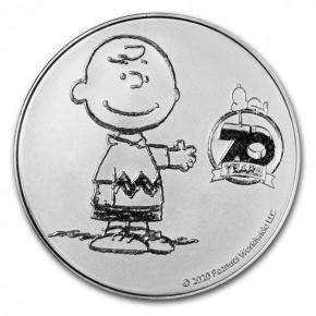 """1 oz Silber """" 70 Jahre Peanuts """" - max. 7000 ( inkl. gültiger gesetzl. Mwst )"""