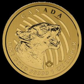 1 oz Gold 99999 Canada PUMA 2015 in Originalkapsel (  Münze unbeschädigt und ohne Makel ) inkl. Sicherheitsmerkmal