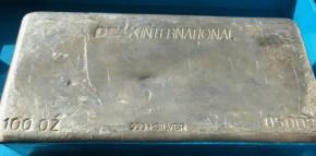 100 oz Silber Barren