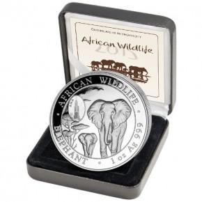 "2 X 1 oz Silber Somalia Elefant 2015 "" ANA Chicago "" & "" Antique Finish "" inkl. COA / BOX ( diff.besteuert nach §25a UStG )"