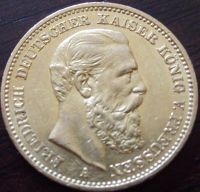 20 Mark Friedrich III  - 7,16 Gramm Gold fein
