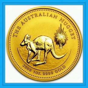 1/2 oz Gold Känguru 2005 in Kapsel