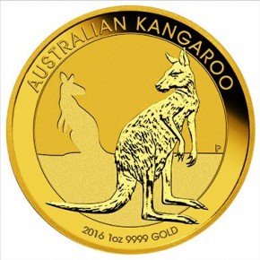 1/4 oz Gold Känguru 2016 in Kapsel