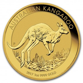 1 oz Gold Känguru 2016 / 2017 in Kapsel