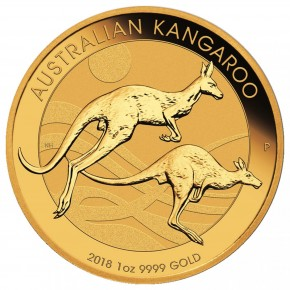 1 oz Gold Känguru 2018 in Kapsel