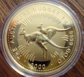 1/4 oz Gold Känguru 2000 in Kapsel