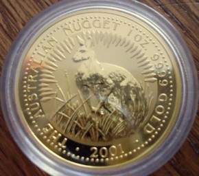 1/20 oz Gold Känguru 2001 in Kapsel