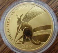 1/4 oz Gold Känguru 2007 in Kapsel