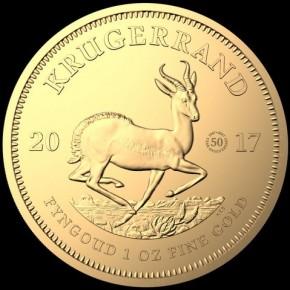 1 oz Gold Krügerrand 2017 Tribute Coin  ( Privy Mark 50 years anniversary)