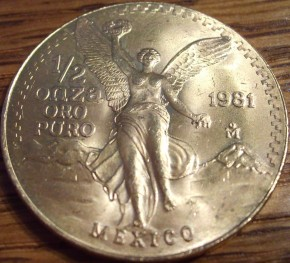 1/2 oz Gold Libertad 1981