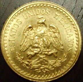 5 Mex. Peso ( 3,75 Gramm Gold fein )
