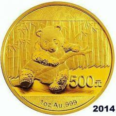 1 oz Gold Panda 2014 in Folie