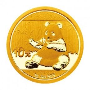 1 Gramm Gold Panda 2017 in Folie - 10 Yuan