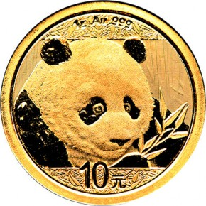 1 Gramm Gold Panda 2018 in Folie - 10 Yuan