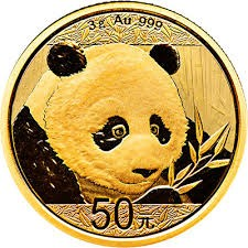 3 Gramm Gold Panda 2018 in Folie -  50 Yuan