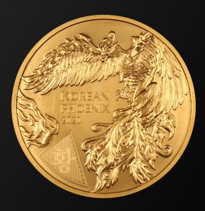 "1 oz Gold Korea "" Korean Phoenix "" - erste Ausgabe"