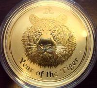 2 oz Gold Lunar II Tiger 2010 in Kapsel ( Perth Mint )