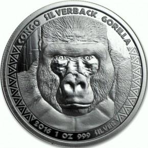 1 oz Silber Prooflike Kongo