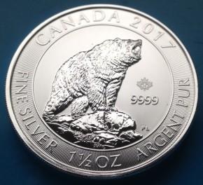 1,5 oz Silber Canada 2017