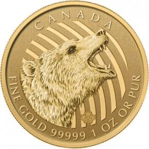 1 oz Gold 99999 Canada Grizzly in Blister / inkl. Sicherheitsmerkmal