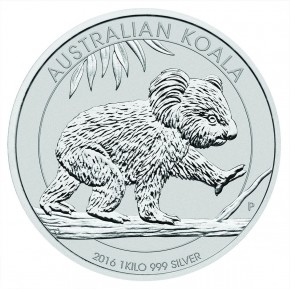 1 Kilogramm / 1000 Gramm Silber Koala 2016 ( diff.besteuert nach §25a UStG )